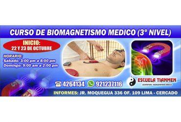 Curso de biomagnetismo médico (3er nivel)